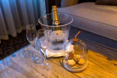 Champagne at the Lygon Arms