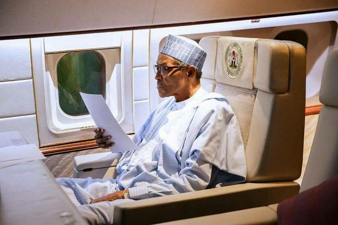 BUHARI LEAVES NIGERIA FOR DUBAI Buhari's Travels