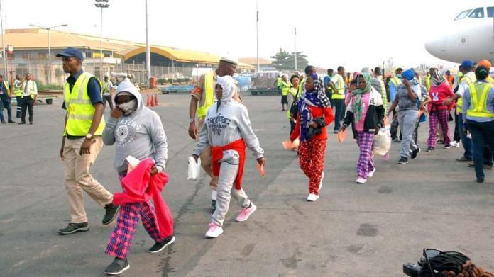 Stranded Nigerians from libya