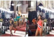 VIDEO: Drama As Church Holds Runway Bikini Beauty Pageant social media users social media media users video church
