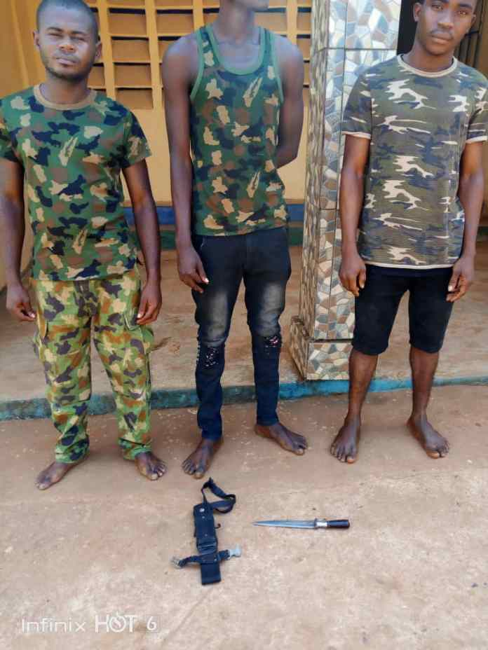 3 Fake Soldiers, 4 Suspected Cultists Arrested In Anambra