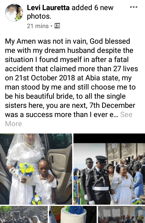 Woman Walks Down The Aisle On Crutches After She Survived Fatal Accident (Photos)