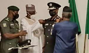 Acting IGP Alkali Baba Decorated By Osinbajo