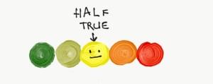 Half True on Likert scale