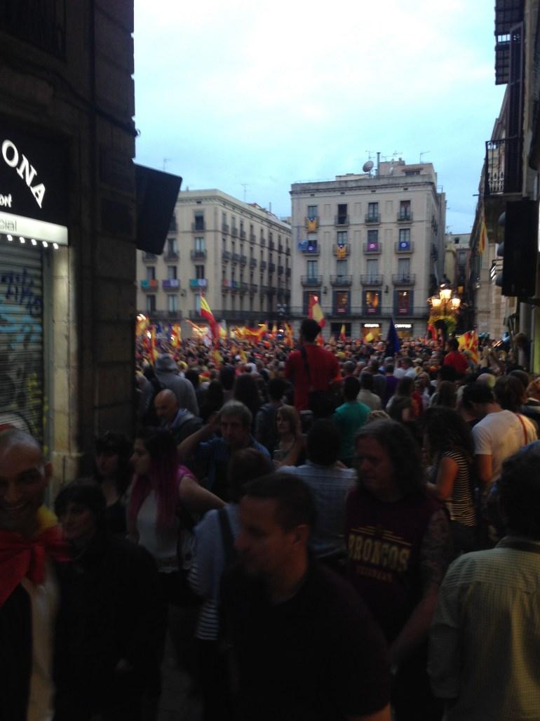 Protest za nezavisnost Katalonije na glavnom Trgu