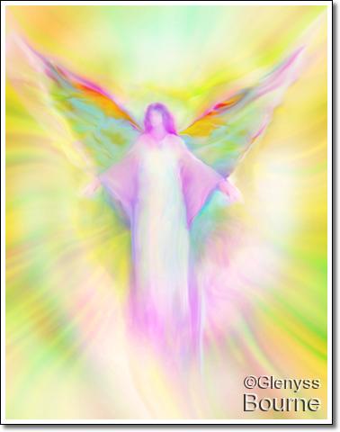 Archangel Gabriel Healing  painting