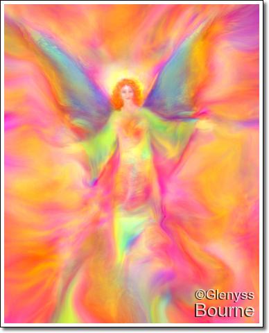 Angel of Joy and Celebration! painting