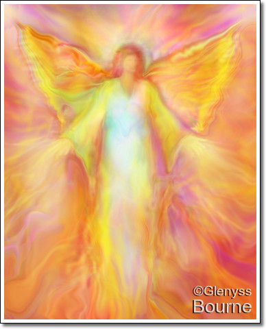 Angel of  Light, Archangel Metatron painting