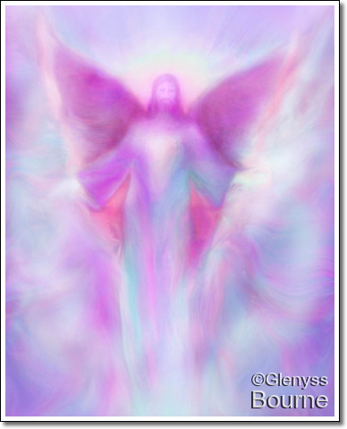 Angel of Transcendence, Archangel Zadkiel by Glenyss Bourne