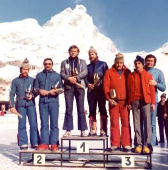 Cervinia 1976 - Campionati Italiani Assoluti: PACI-MIANI secondi classificati.