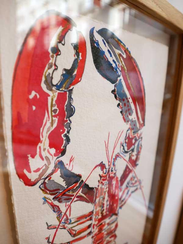 Croquis de homard réalisé par l'artiste peintre Anaïs Colin