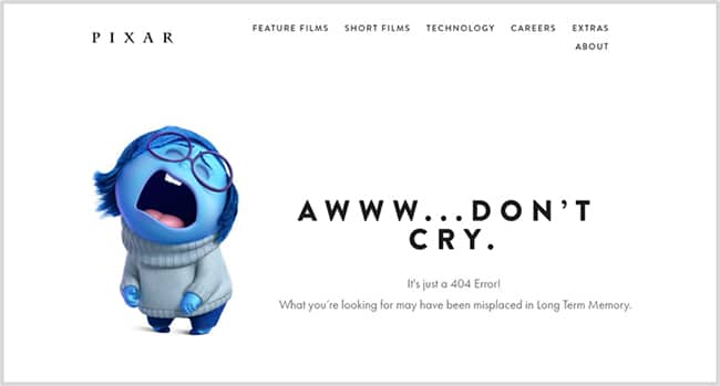 Page 404 Pixar