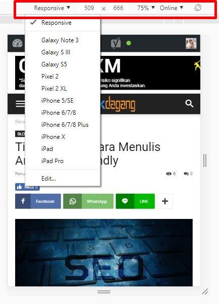 Cek mobile friendly blog kamu tanpa tools