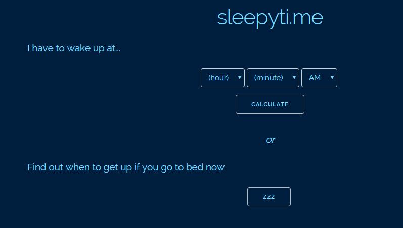 Kamu bisa menghitung kapan kamu harus tidur dan kapan kamu harus bangun via Sleepyti
