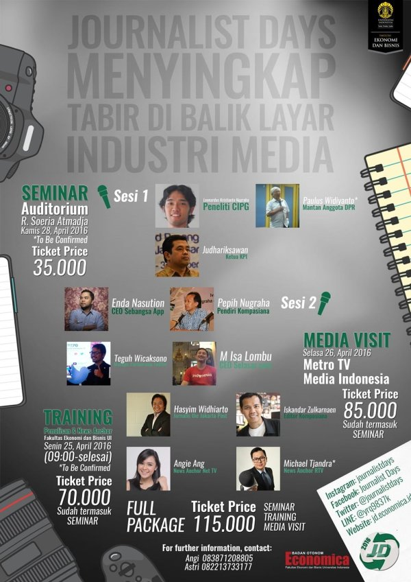 Official Journalist Days 2016 Event Poster (A3)-1
