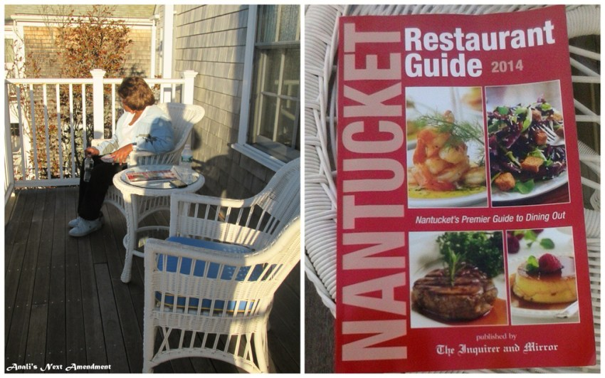 mom on balcony + restaurant guide