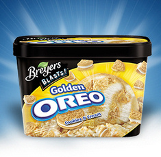 Breyers Golden Oreo ice cream