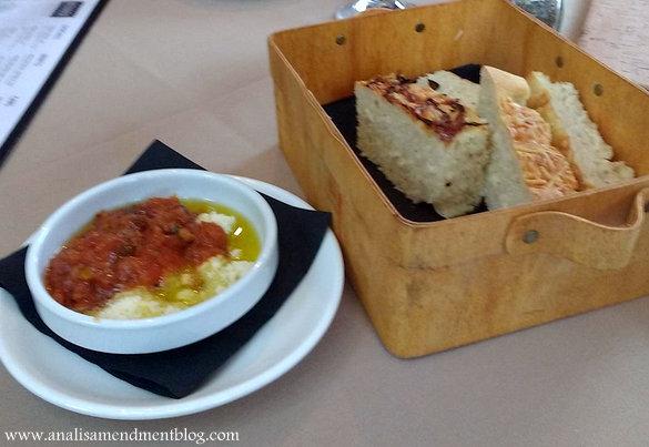 Bread basket at Novara restaurant.