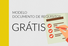 Modelo de documento de requisitos de software grátis para download.