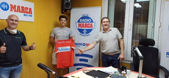 Tapia en los estudios de Radio Marca Barcelona