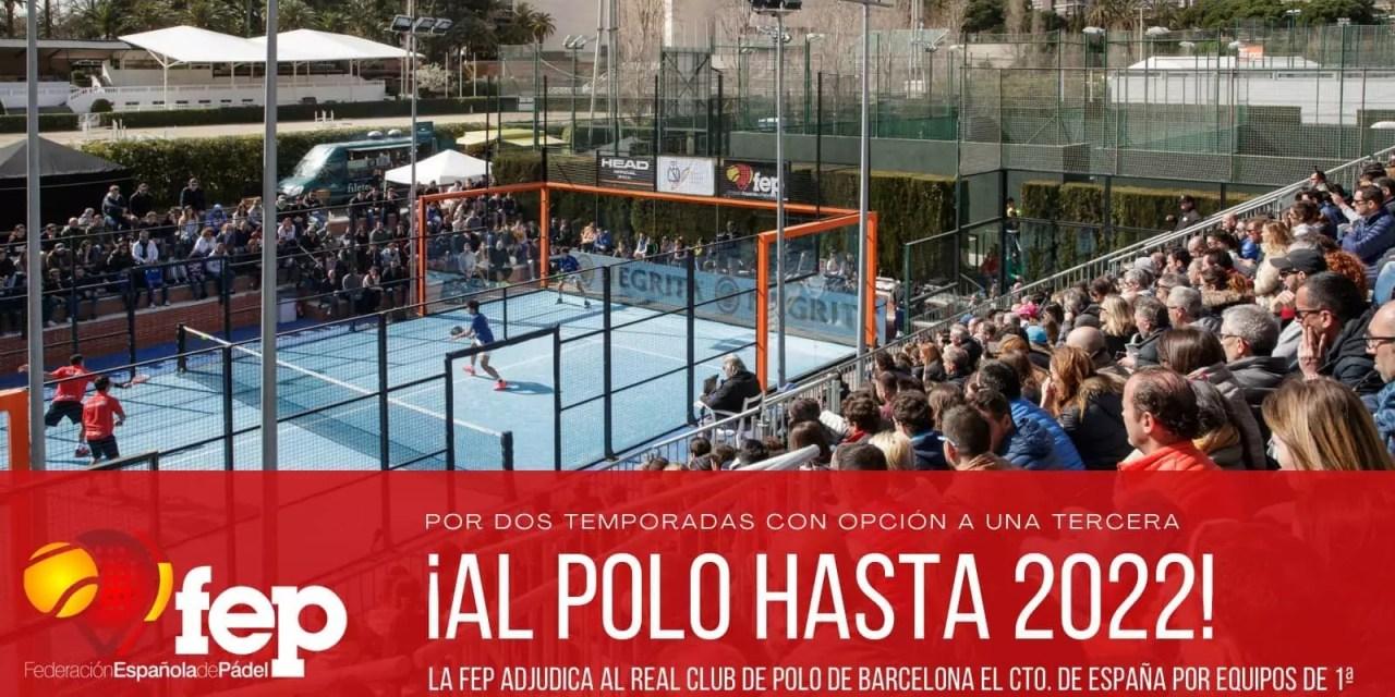 Real Club de Polo de BCN sede del Campeonato de España por Equipos hasta 2022