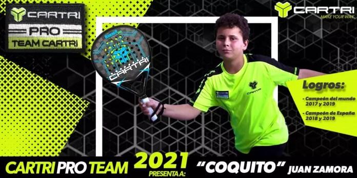 Coquito, un futuro prometedor de la mano del Team Cartri