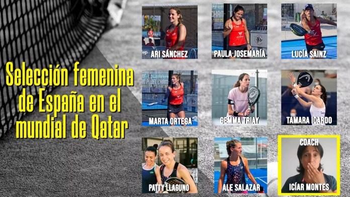 Lista de la selección femenina española para el Mundial