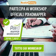 Partecipa ai Workshop Ufficiali Pix4Dmapper