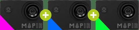 Camera NIR + Camera BLUE + Camera GREEN
