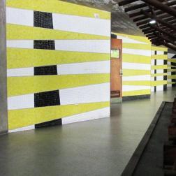 Pasillo de la Facultad de Arquitectura y Urbanismo. Foto: Roberts González