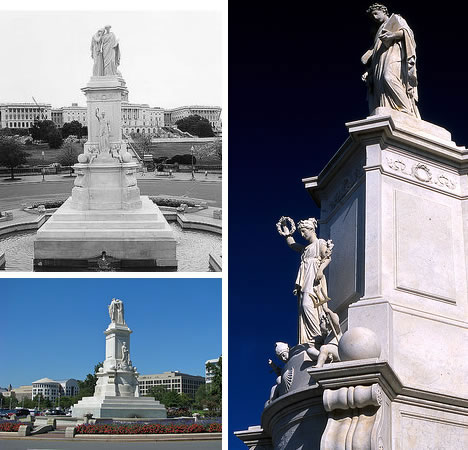 También conocido como el Monumento Naval, fue construido para conmemorar la muerte de los navales durante la Guerra Civil Americana