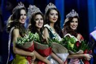 De izquierda a derecha, las representantes de Brasil, Ecuador, Colombia y Venezuela/ Foto: EFE
