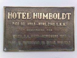 Placa del Hotel Humboldt