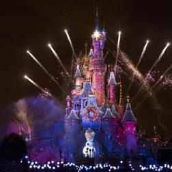 Espectáculo de Frozen en el Castillo de Disney /Foto: Disneyland Paris