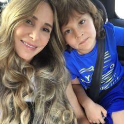Natalia y su hijo Jaques