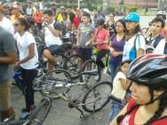 La Gran Rodada Urbana de febrero, fue organizada por la gente de Masa Crítica