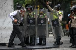 Efectivos de la Policía Nacional Bolivariana (PNB) / Foto: EFE