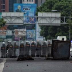 GNB reprimió a la oposición en Caracas/Foto: Giancalo Corrado