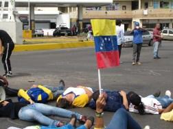Estudiantes en falcón se suman a la protesta/Foto: Corresponsalía