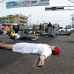 Falconianos se unen a la protesta nacional/Foto: Corresponsalía