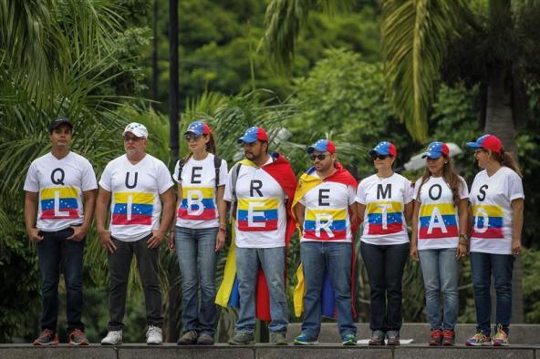 Protesta en Venezuela 22 de julio Foto: EFE