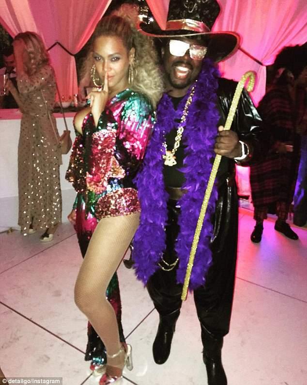 Beyoncé durante la celebración temática de su cumpleaños 35
