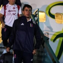 Ronaldo Chacón en su llegada a Buenos Aires, Argentina / Foto: Prensa FVF