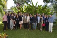 Medios de comunicación e invitados presentes en la Residencia de Polonia/ Foto: Alfonso López