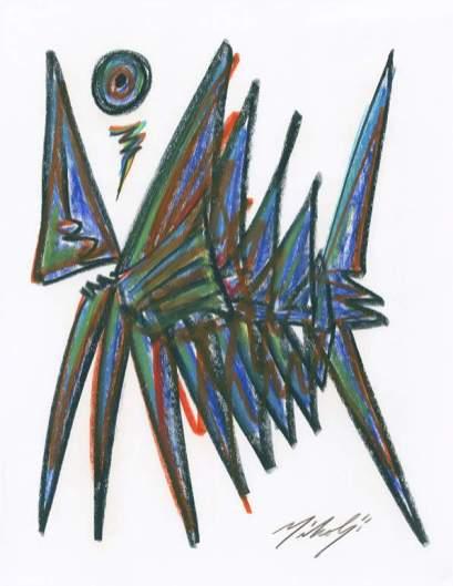 1 Pez Angel, acrílco sobre papel, 2014 La plástica de Ivan Mikolji