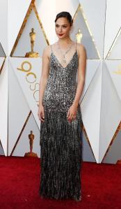 Gal Gadot en su paso por la alfombra roja de los Premios Óscar