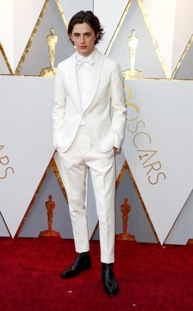 Timothée Chalamet en su paso por la alfombra roja de los Premios Óscar