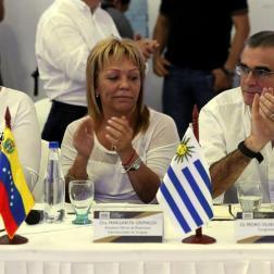 """Congresistas de varios países asisten hoy, viernes 1 de junio de 2018, al """"Encuentro de Congresos de América Latina por Venezuela"""", en Cúcuta (Colombia)/ Foto: EFE"""