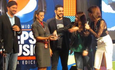 Christopher Lozada, La Vero Gómez, Maunuel Silva y Jairam Navas en la ruda de prensa de los Premios Pepsi Music / Foto: Dánae Rivero