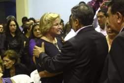 Ex Esposa de Alan García en el velorio del expresidente peruano, en Lima. Foto: EFE